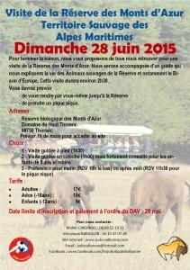 Visite de la Réserve des Monts d'Azur