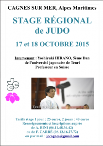 Dojo Antipolis Valbonne : Stage Hirano 2015